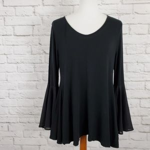 Monroe And Main Flounce A Line Top Bell Sleeves M